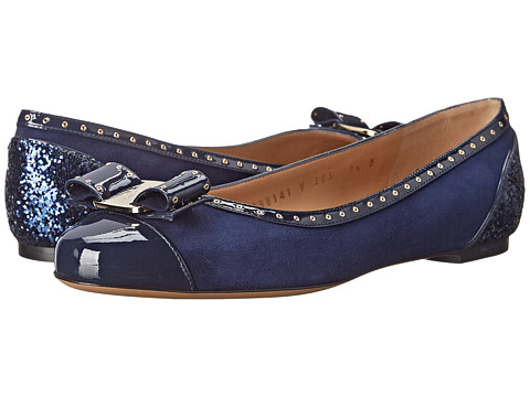 Salvatore Ferragamo - Varina S (Oxford Blue) Women's Dress Flat Shoes