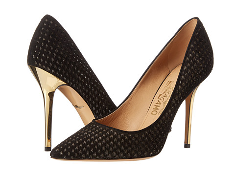 Salvatore Ferragamo - Susi Patch 2 (Oro) High Heels