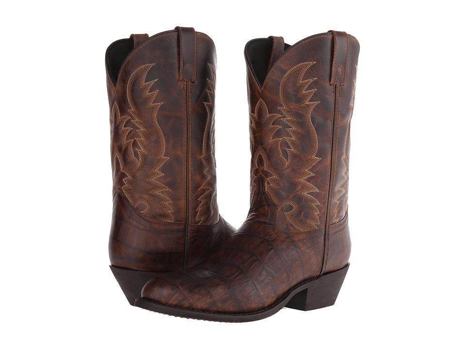 Laredo - Crocoloco (Cognac Croc Print) Cowboy Boots