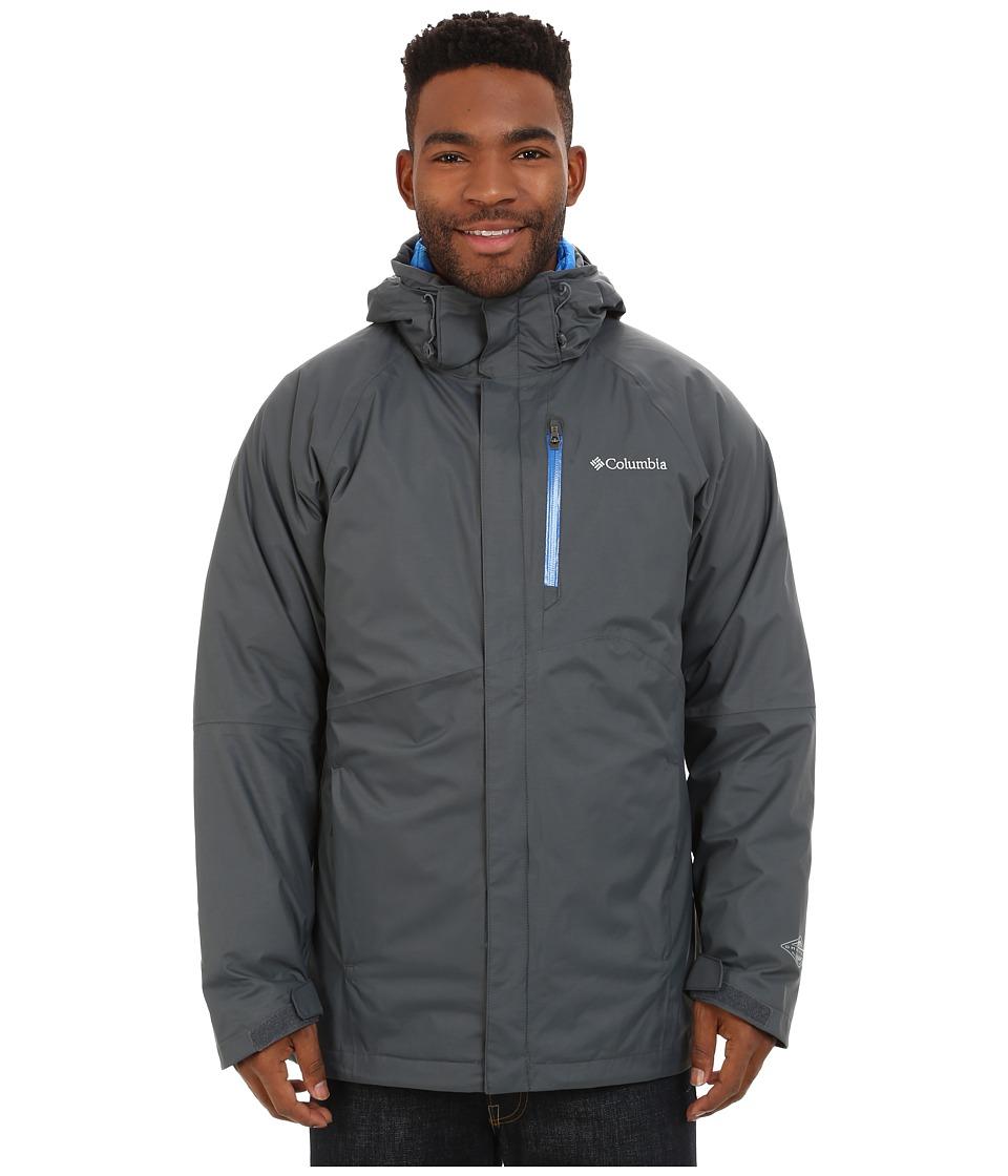 Columbia - Powderkeg Interchange Jacket (Graphite/Hyper Blue) Men