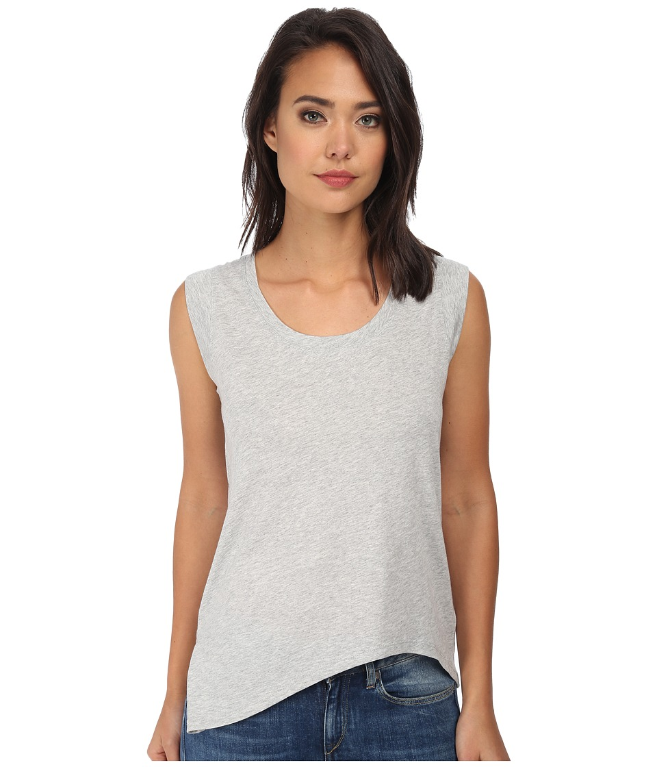 Alternative - Modal Asymmetrical Cap Sleeve Top (Heather Grey) Women's Clothing