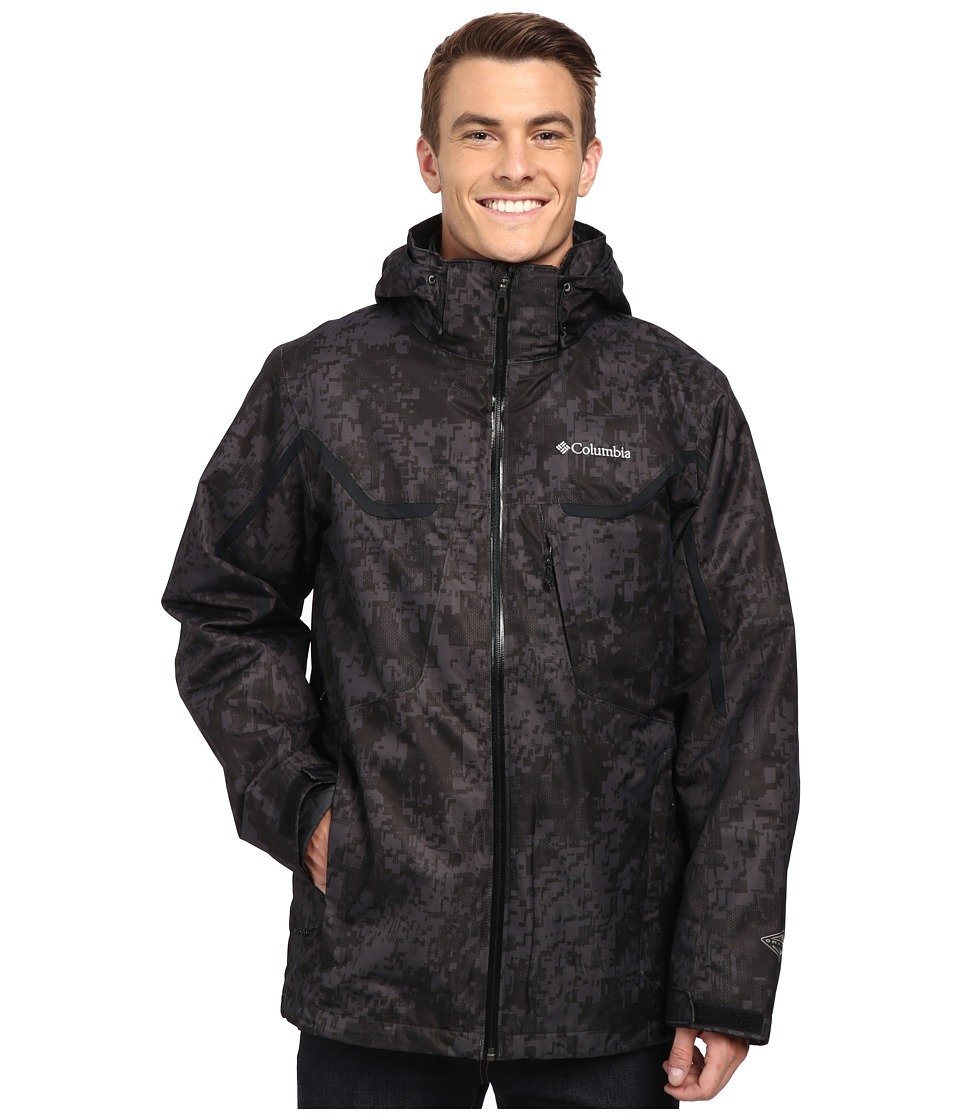 Columbia - Whirlibird Interchange Jacket (Black/ Digi Camo/Black) Men's Jacket