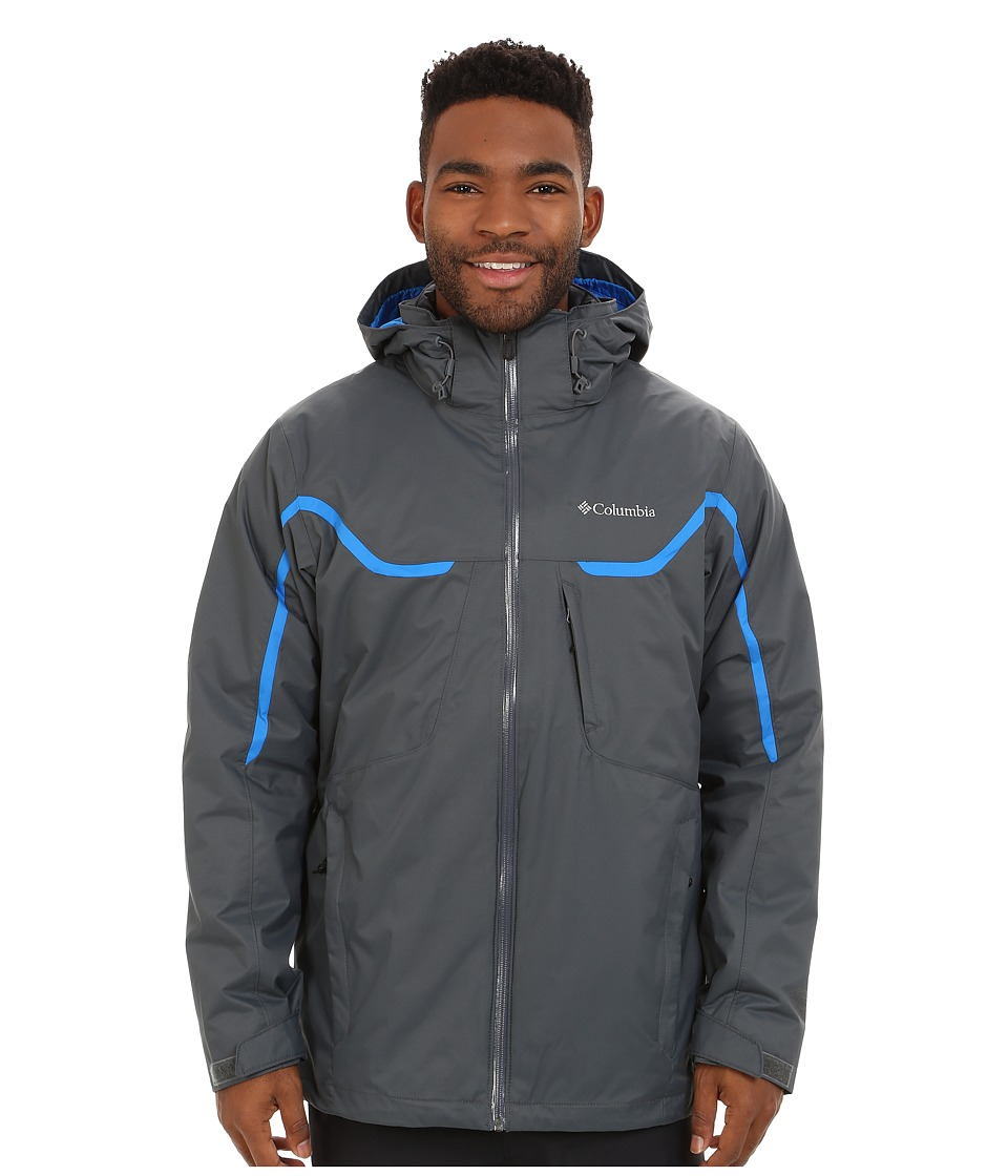 Columbia - Whirlibird Interchange Jacket (Graphite/Hyper Blue/Graphite) Men's Jacket