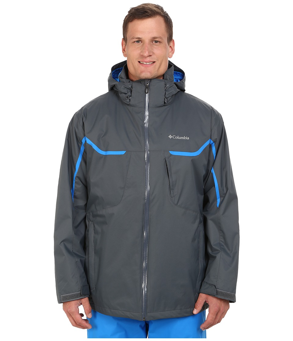 Columbia - Whirlibird Interchange Jacket - Extended (Graphite/Hyper Blue/Graphite) Men's Coat