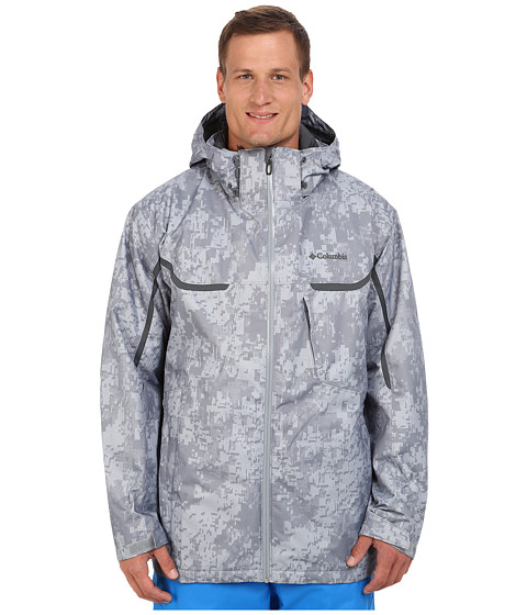 Columbia - Whirlibird Interchange Jacket - Extended (Tradewinds Grey/Digi Camo/Graphite) Men