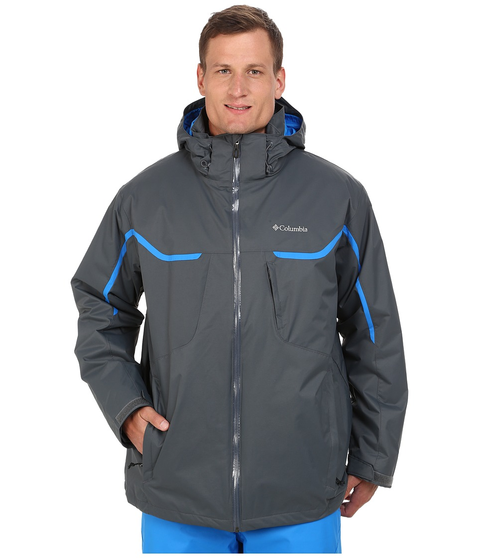 Columbia - Whirlibird Interchange Jacket - Tall (Graphite/Hyper Blue/Graphite) Men's Coat