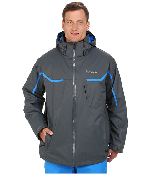 Columbia - Whirlibird Interchange Jacket - Tall (Graphite/Hyper Blue/Graphite) Men