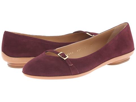 Salvatore Ferragamo - Audrey New (Rouge Noir) Women's Dress Flat Shoes