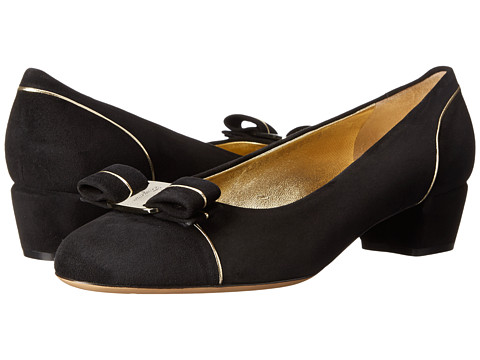 Salvatore Ferragamo - Vara Piping (Nero) Women's Shoes