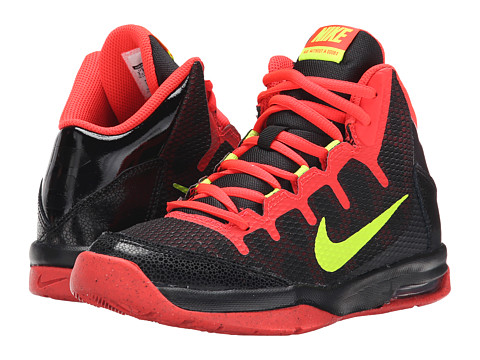 Nike Kids - Air Without A Doubt (Big Kid) (Black/Bright Crimson/Volt) Boys Shoes