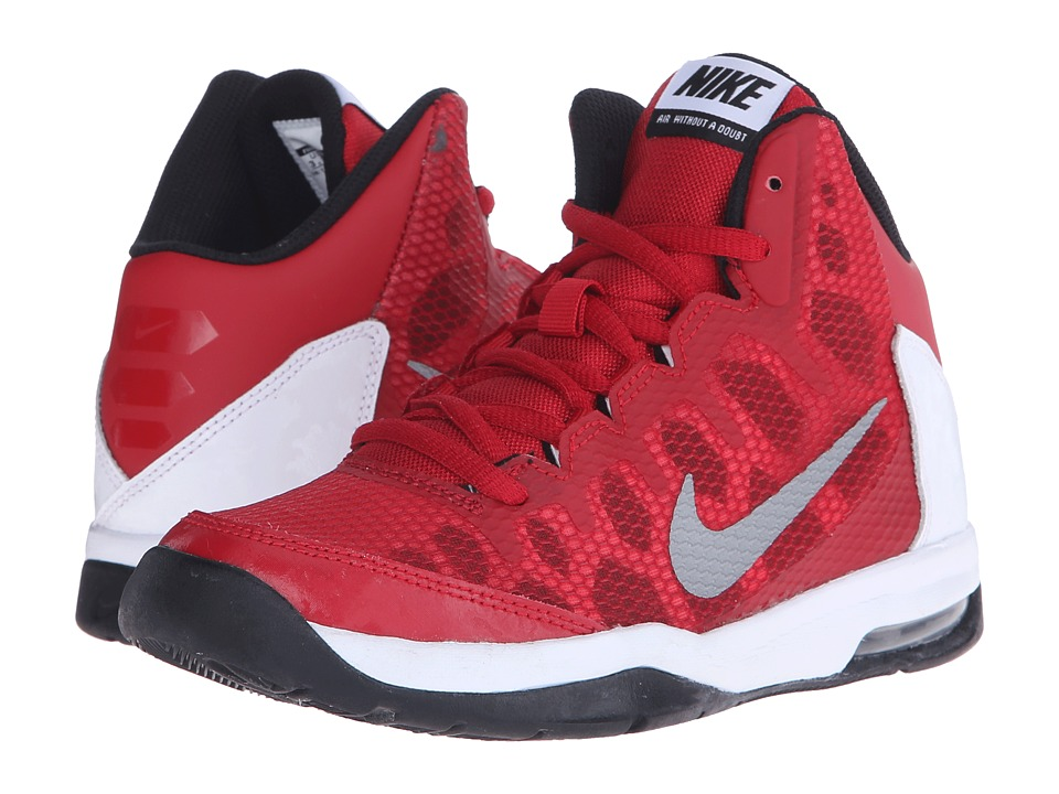 Nike Kids - Air Without A Doubt (Big Kid) (Gym Red/White/Black/Metallic Silver) Boys Shoes