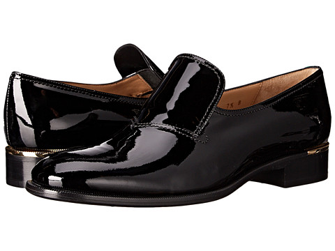 Salvatore Ferragamo - Label (Nero) Women's Slip on Shoes