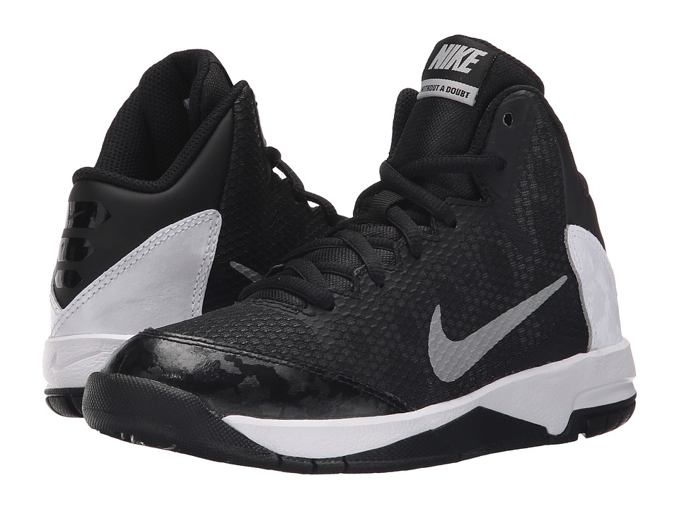 Nike Kids - Without A Doubt (Little Kid) (Black/FLT Silver/White/Metallic Silver) Boys Shoes