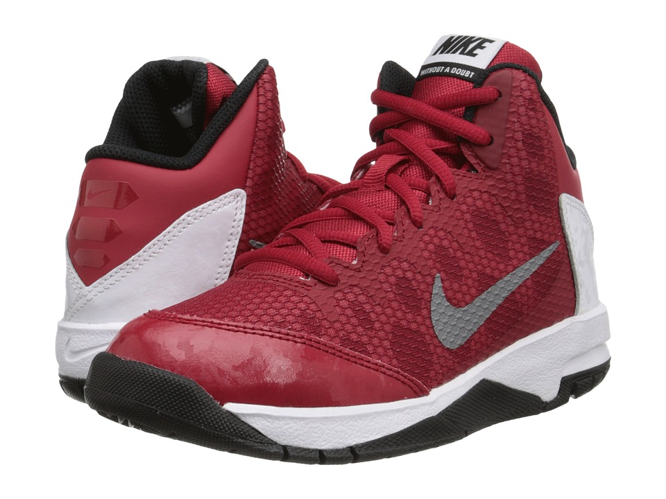 Nike Kids - Without A Doubt (Little Kid) (Gym Red/White/Black/Metallic Silver) Boys Shoes