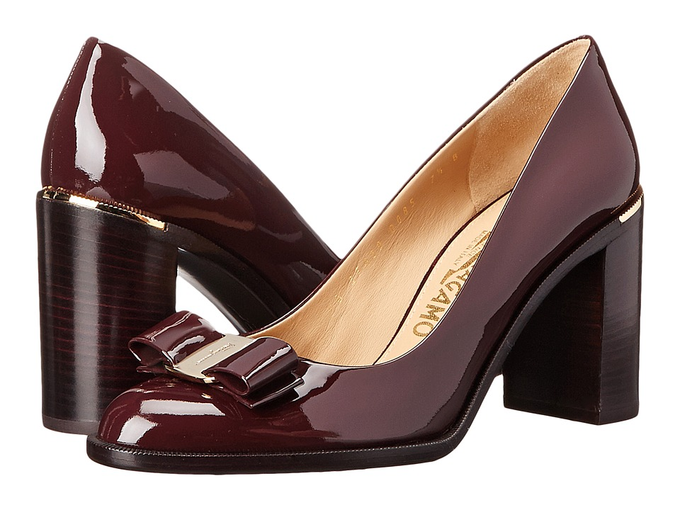 Salvatore Ferragamo - Luna 85 (Rouge Noir) High Heels