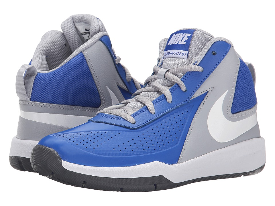 Nike Kids - Team Hustle D 7 (Big Kid) (Game Royal/Wolf Grey/Black/White) Boys Shoes