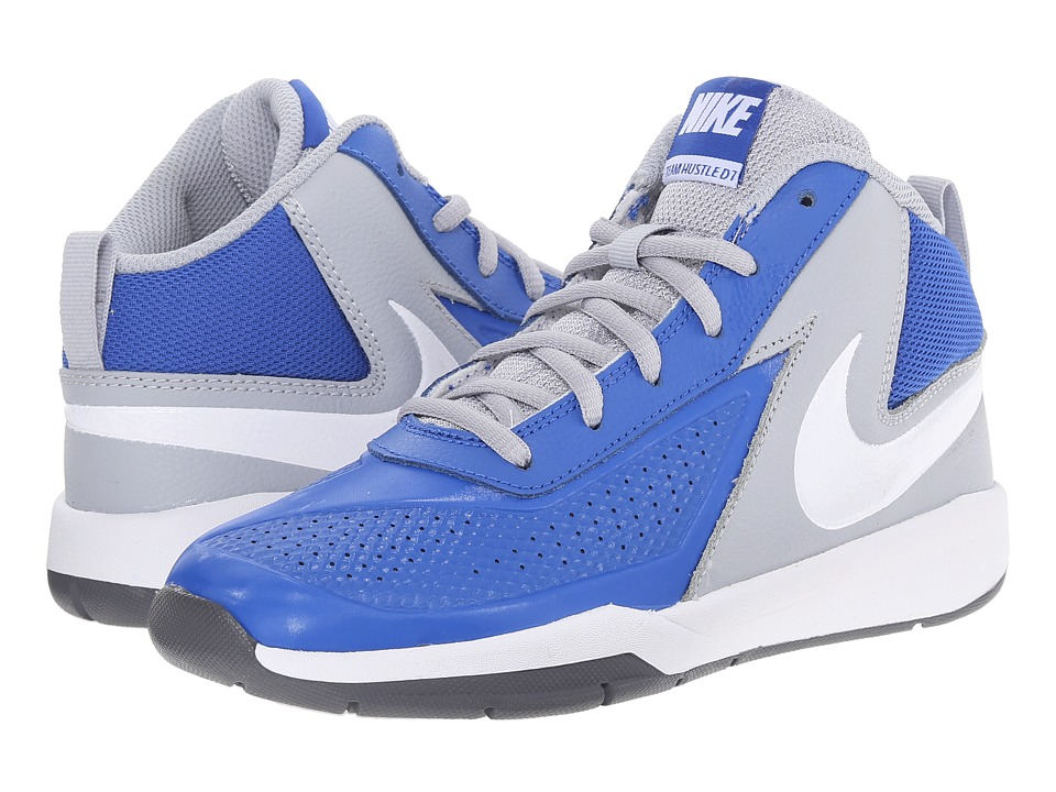 Nike Kids - Team Hustle D 7 (Little Kid) (Game Royal/Wolf Grey/Black/White) Boys Shoes