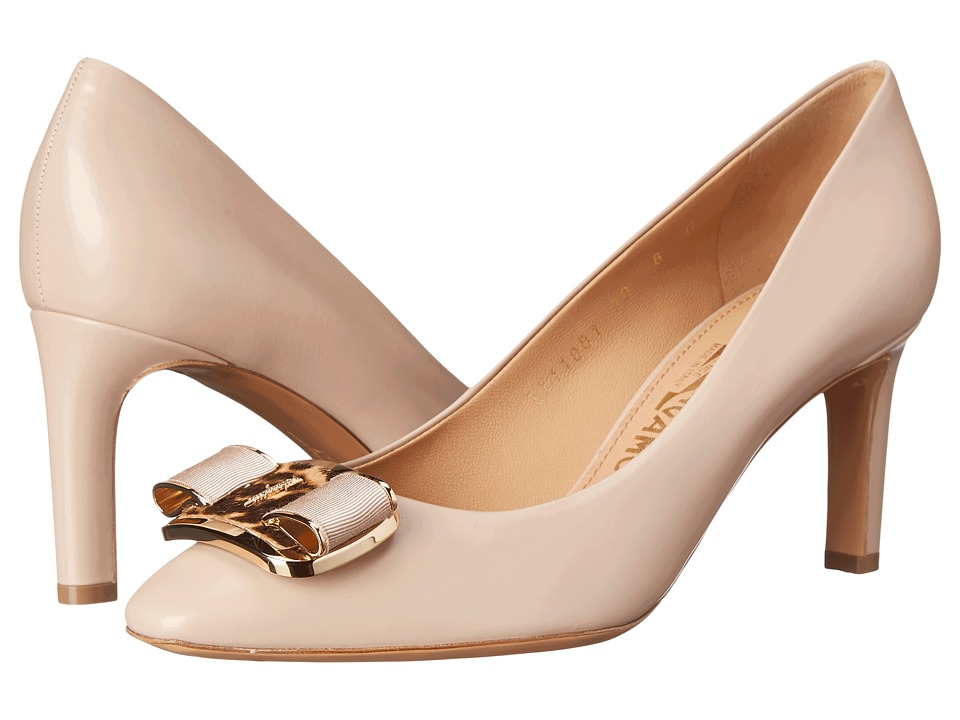 Salvatore Ferragamo Lola 70 (New Bisque) High Heels