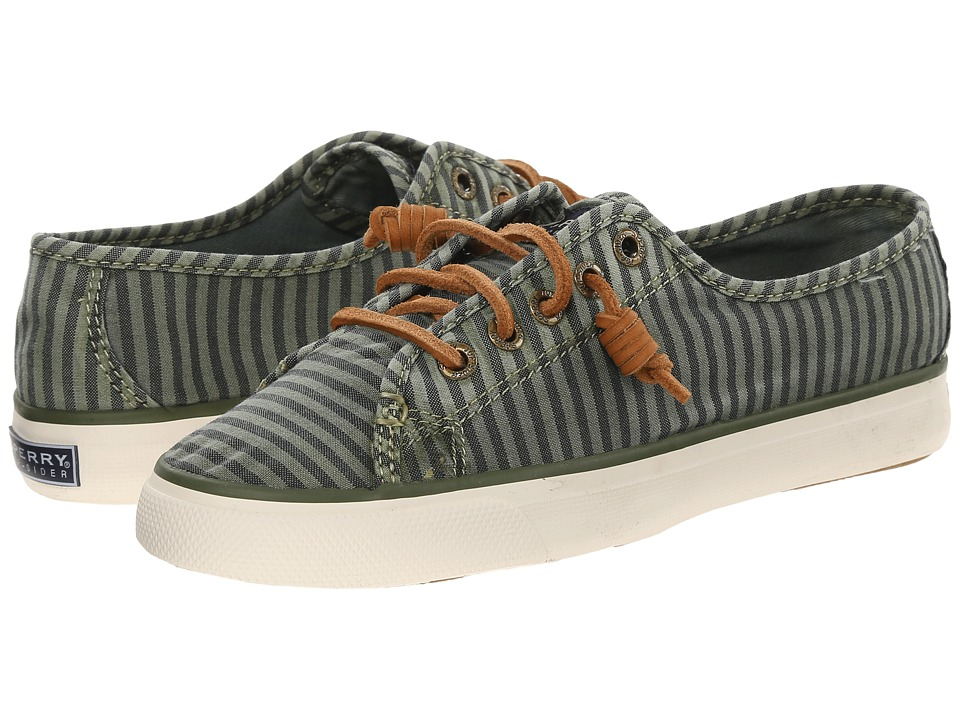 Sperry Top-Sider - Seacoast Striped Oxford Cloth (Olive) Women