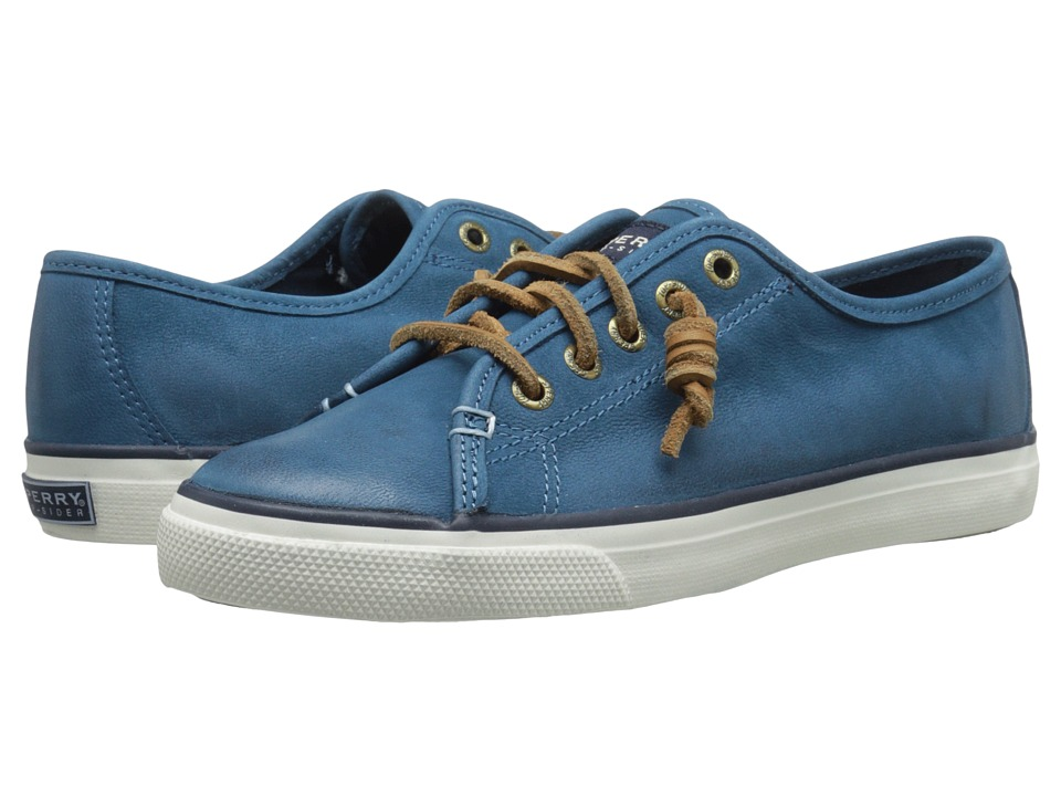 Sperry - Seacoast Weathered Worn (Blue) Women's Lace up casual Shoes