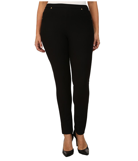 MICHAEL Michael Kors - Plus Size Solid Pull On Leggings (Black) Women's Casual Pants