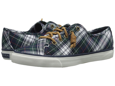Sperry Top-Sider - Seacoast Tartan Plaid (Navy/Green) Women's Lace up casual Shoes