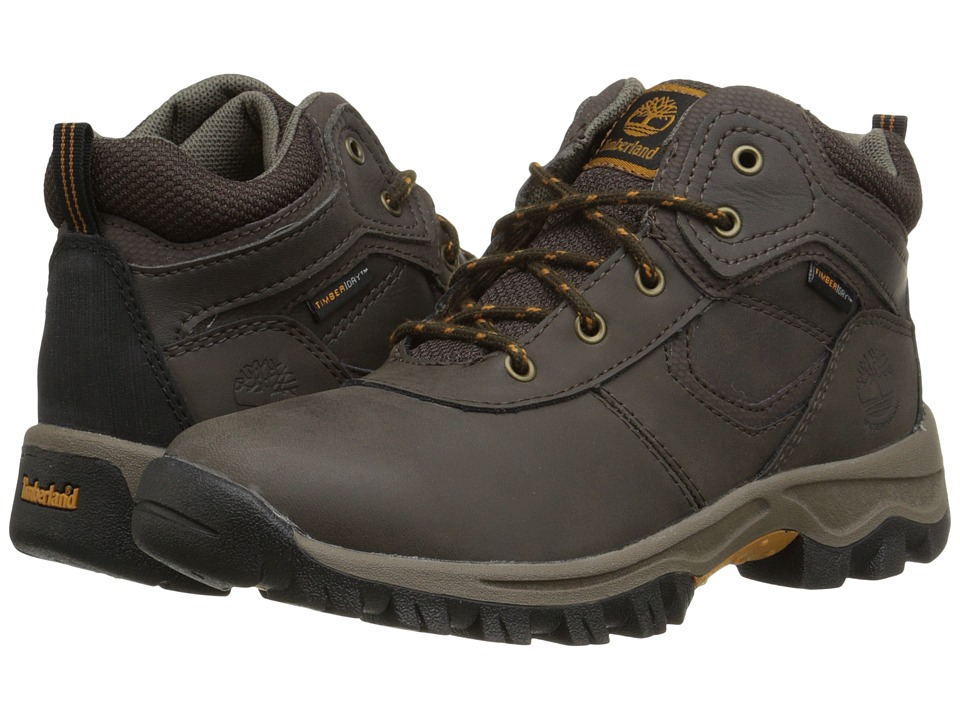 Timberland Kids - Mt. Maddsen Mid Waterproof (Little Kid) (Dark Brown) Boys Shoes