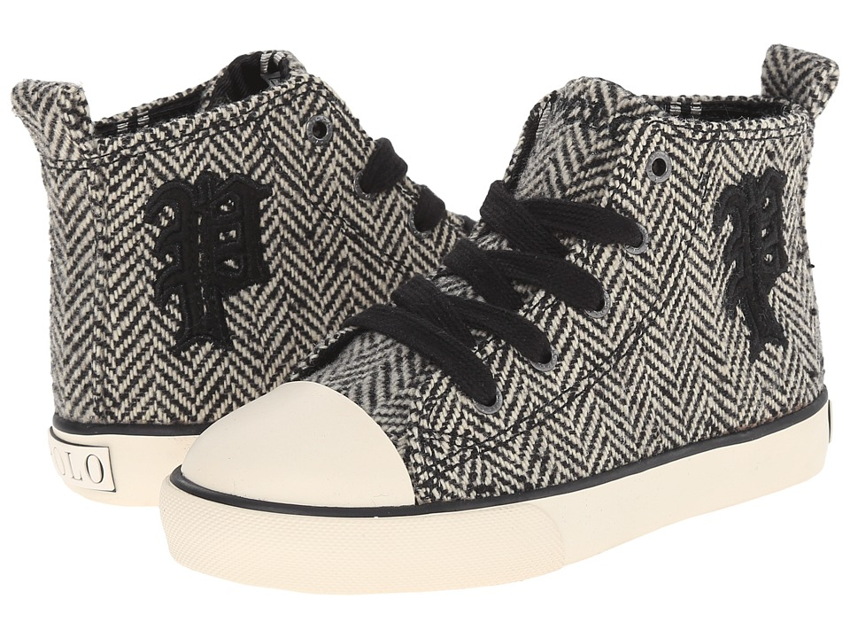 Polo Ralph Lauren Kids - Sag Harbour Hi (Toddler) (Black Herringbone/P) Girl's Shoes