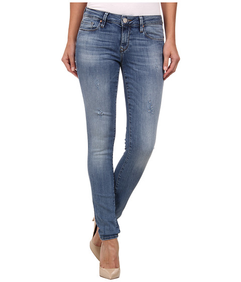 Mavi Jeans - Alexa Mid Rise Skinny in Distressed Nolita (Distressed Nolita) Women's Jeans