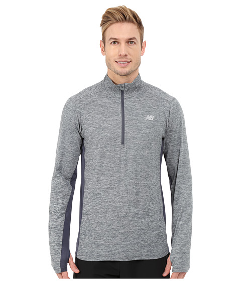 New Balance - Lightweight Tech Quarter Zip (Thunder) Men's T Shirt