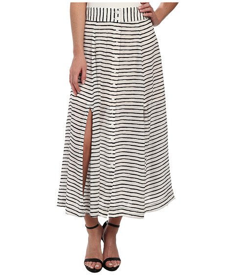 Nanette Lepore - Au Revoir Skirt (White/Black) Women's Skirt