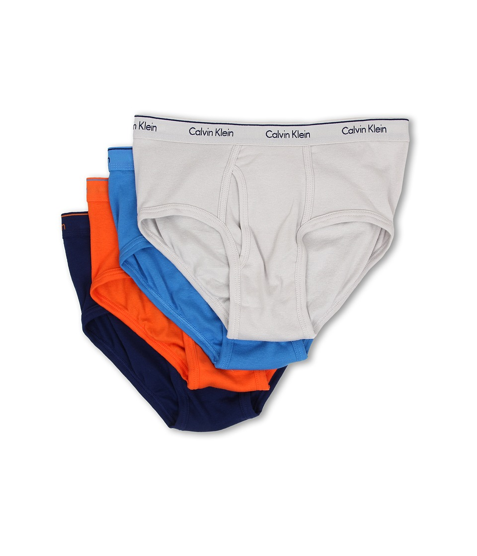 Calvin Klein Underwear - Cotton Classic Brief 4-Pack U4000 (Shark Tank/Knight Ride/Nara Orange/Dreamy) Men's Underwear