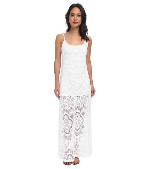 Nightcap - Crochet Day Gown (White) Women's Dress