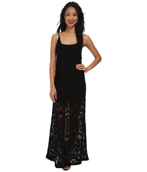 Nightcap - Crochet Day Gown (Black) Women's Dress