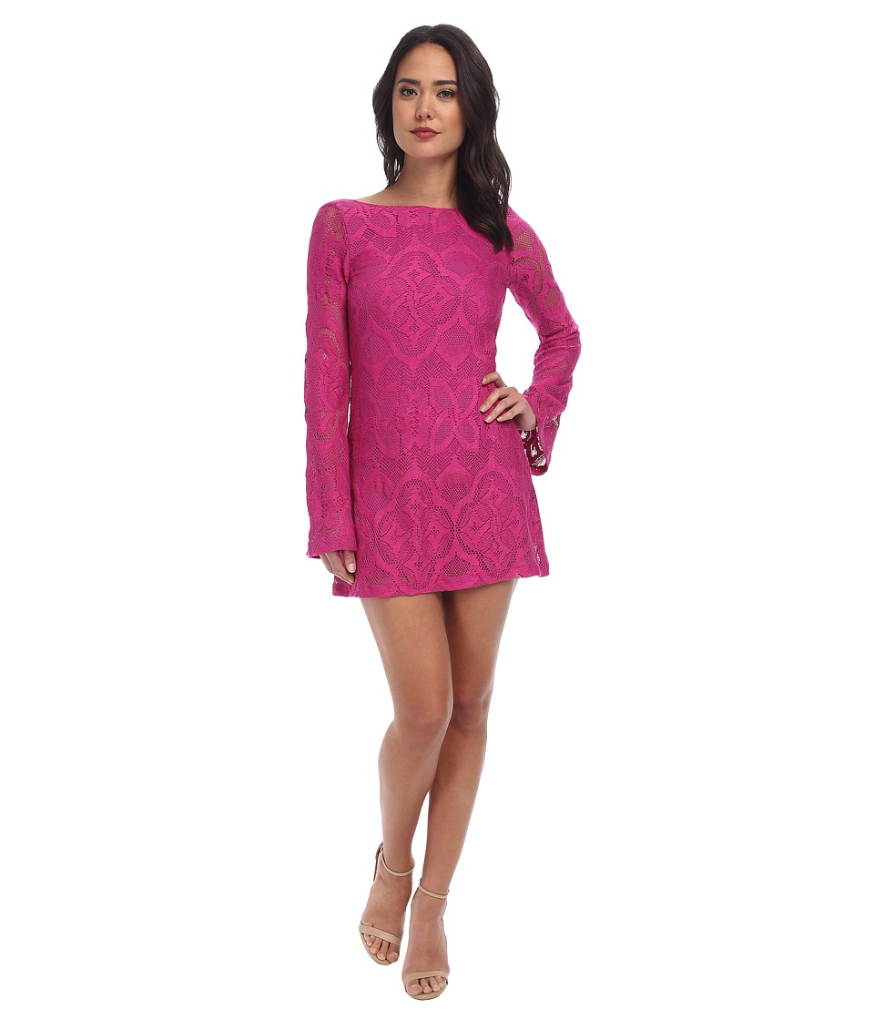 Nightcap - Crochet Priscilla Dress (Fuchsia) Women's Dress
