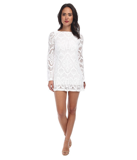 Nightcap - Crochet Priscilla Dress (White) Women's Dress