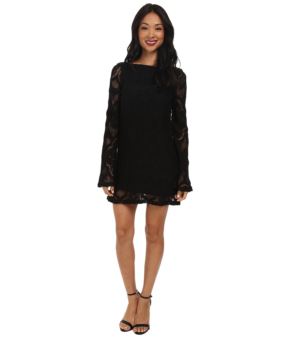 Nightcap - Crochet Priscilla Dress (Black) Women's Dress