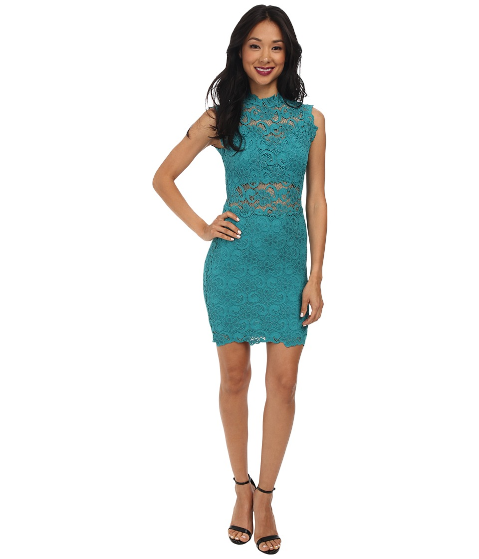 Nightcap - Dixie Lace Cutout Dress (Emerald) Women's Dress
