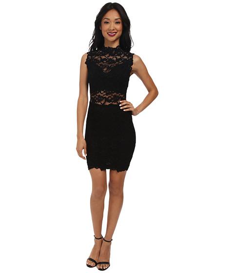 Nightcap - Dixie Lace Cutout Dress (Black) Women's Dress