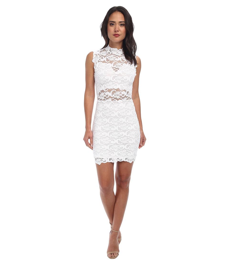 Nightcap - Dixie Lace Cutout Dress (White) Women's Dress