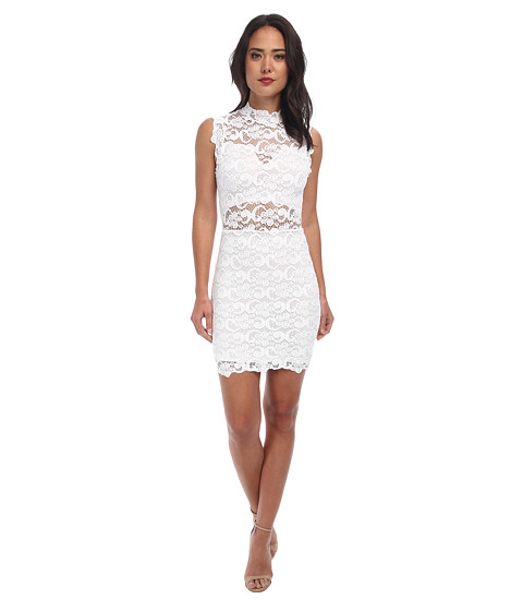 Nightcap - Dixie Lace Cutout Dress (White) Women's Dress