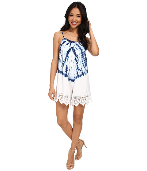 Nightcap - Jersey Crochet Tie-Dye Flirt Suit (Navy/White) Women's Jumpsuit & Rompers One Piece