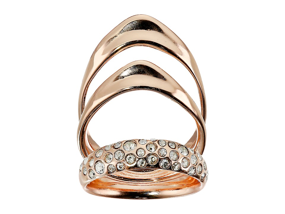 Alexis Bittar - Crystal Encrusted Draping Ring (Rose Gold) Ring