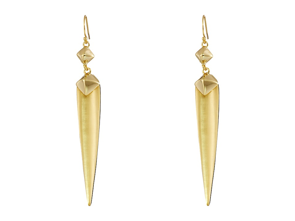 Alexis Bittar - Pyramid Capped Spear Wire Earrings (Gold) Earring