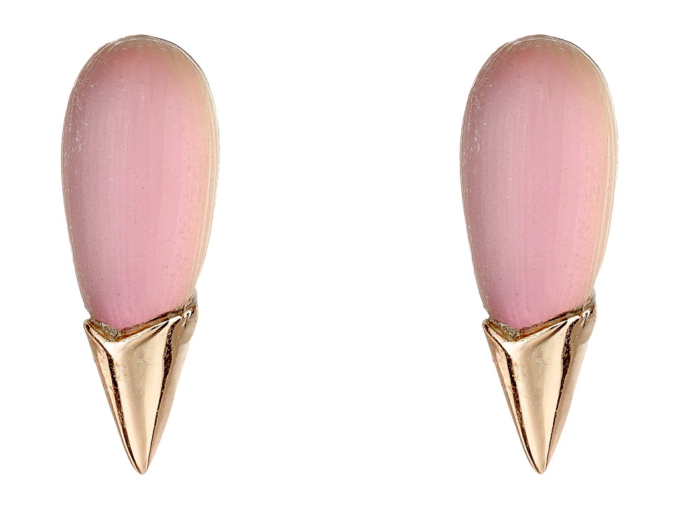 Alexis Bittar - Liquid Metal Capped Spike Post Earrings (Rose Opalescent) Earring