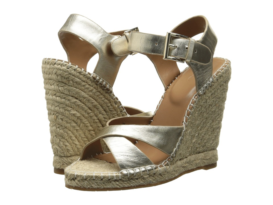 Joie - Lena (White Gold) Women's Wedge Shoes