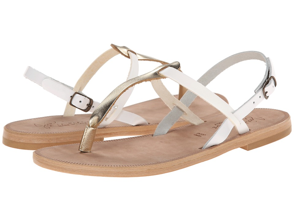 Joie - Topanga (White Gold/White) Women's Sandals