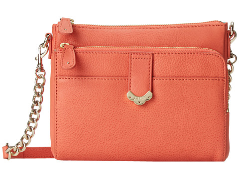 Jack Rogers - Celeste Small Crossbody (Fire Coral) Cross Body Handbags