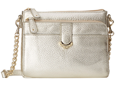 Jack Rogers - Celeste Small Crossbody (Platinum) Cross Body Handbags