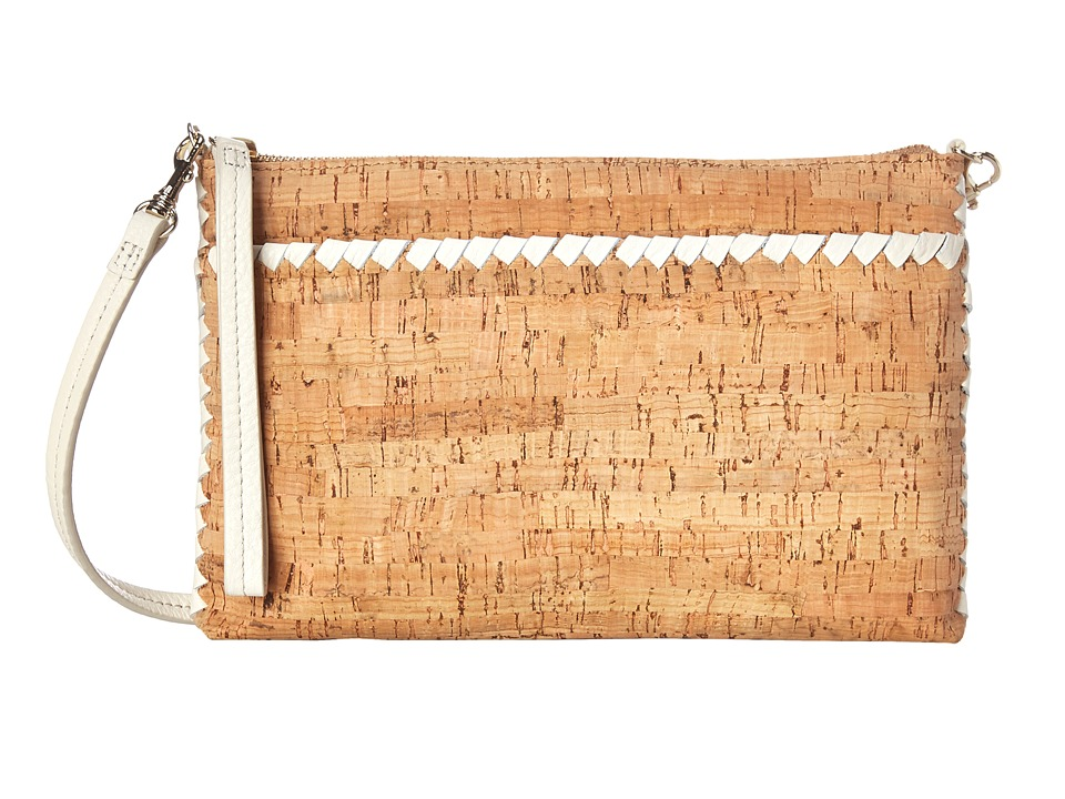 Jack Rogers - Alaina Crossbody (Cork/White) Cross Body Handbags
